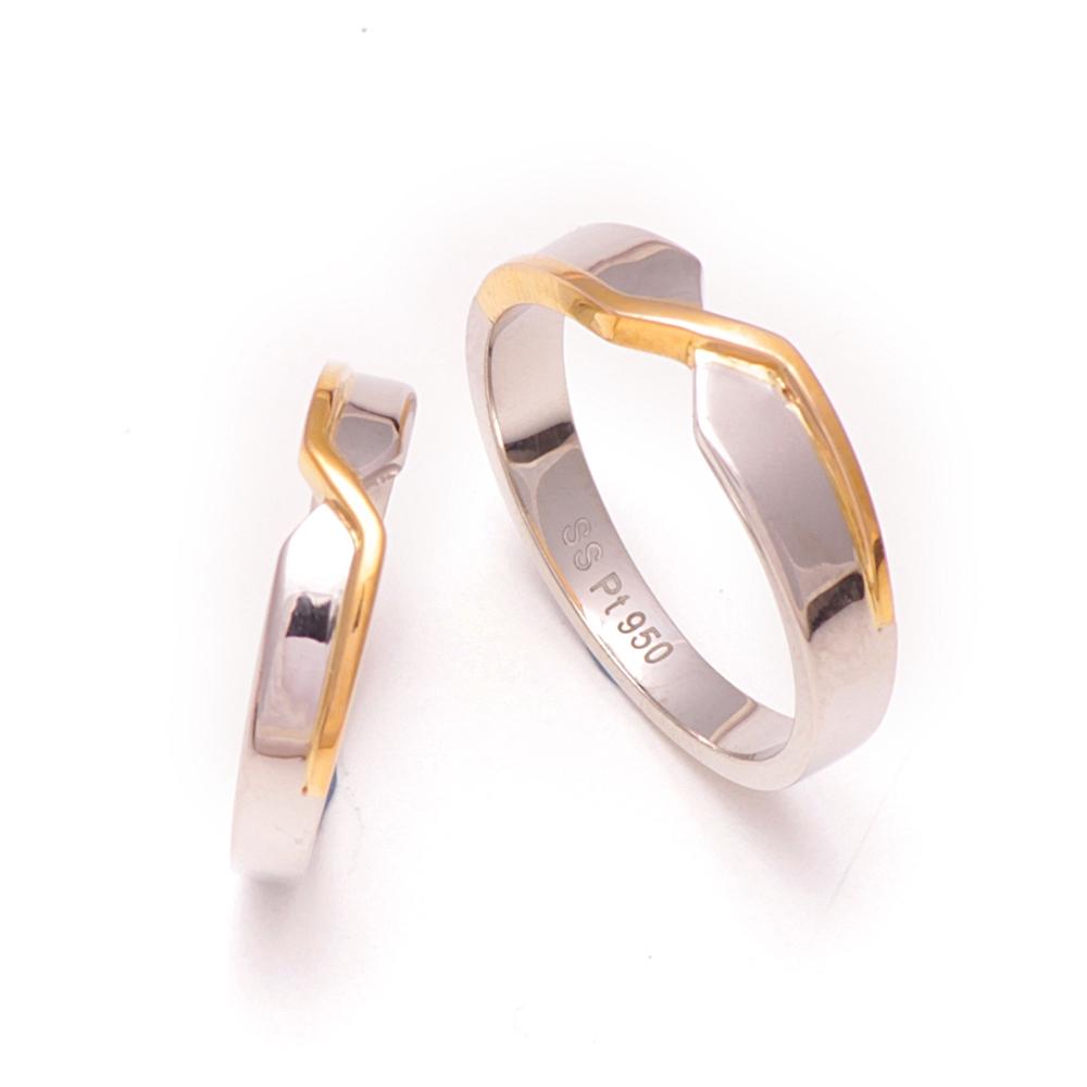 Platinum Couple Ring - FRCR 13