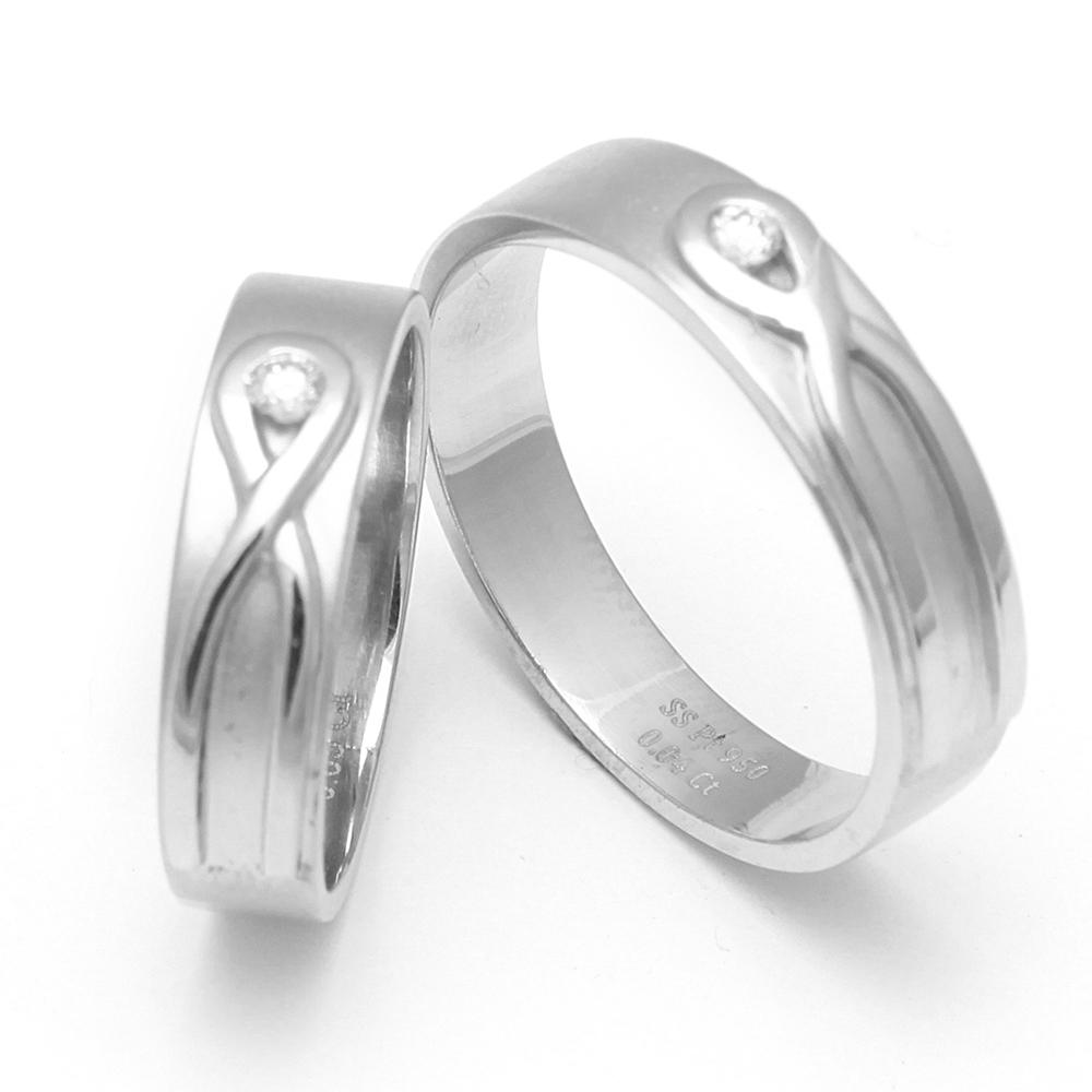 Platinum Couple Ring - SDCR 76
